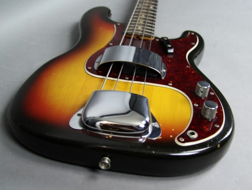 1966 Fender® Precision Bass® Vintage Electric Guitar Sunburst USA w/OHSC