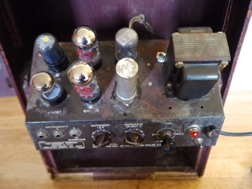 1946 Harmony Model 200 Vintage Tube Guitar Amplifier USA 6V6 Serviced