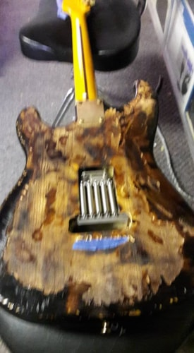 2012 Parts caster F SRV clone NO.1 all Fender® parts used
