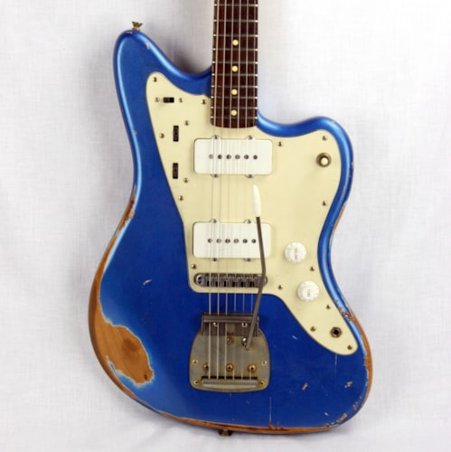 2012 Nash JM63 Jazzmaster™ Heavy Relic® Blue w/ Gold Hardware