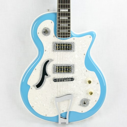 DiPinto Belvedere Deluxe RARE Sonic Blue, Gold Foil Pickups!