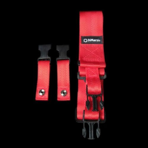 DiMarzio Cliplock Guitar Strap (Red)