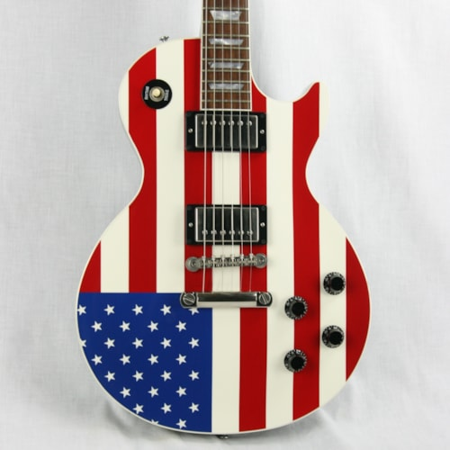 2006 gibson custom shop stars and stripes les paul class 5 american flag guitar red white and. Black Bedroom Furniture Sets. Home Design Ideas