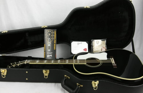 2016 Gibson Custom Shop Southern Jumbo Ebony! Black SJ Acoustic Guitar! j45 j50 aj