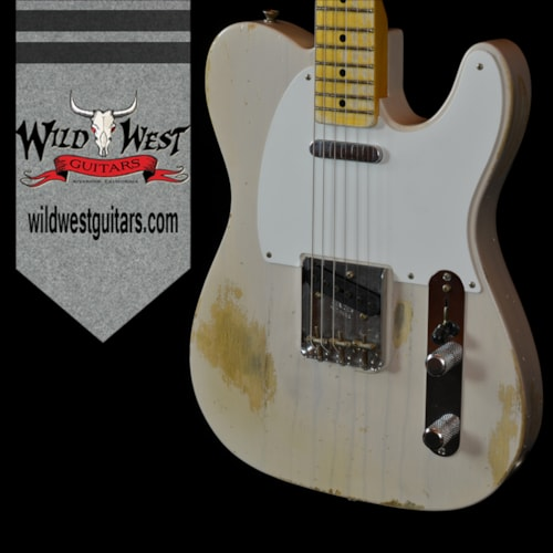 2016 Fender® Masterbuilt '55 Esquire Relic® Dirty White Blonde by Galuszka