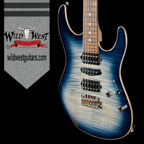 2016 Suhr Modern Pro Faded Whale Blue Burst w/Satin Maple Neck