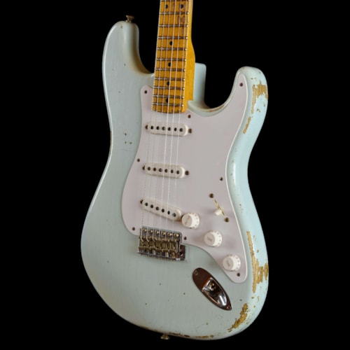 Fender 1954 Limited Edition Heavy Relic One Piece Ash Body Stratocaster Sonic Blue