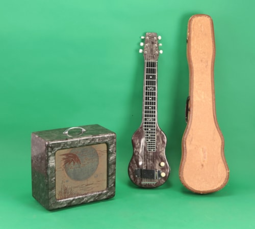 ~1958 Magnatone  Lapsteel guitar and Varsity Amplifier