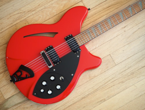 1987 Rickenbacker 360/12 Electric Guitar 12 String Red BT, Black Trim w/ ohsc