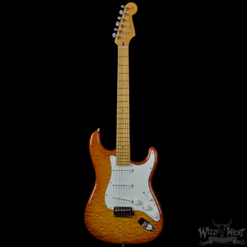 2016 Fender® Custom Deluxe Stratocaster® W/AA Satin Flame Maple Neck