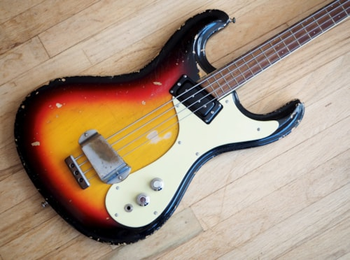 1965 Mosrite The Ventures Bass Vintage Mark I, Early Features & OHSC