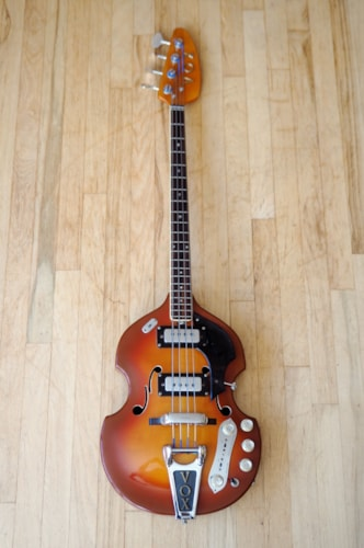 1968 Vox Astro IV Vintage Hollowbody Bass Guitar Onboard Fuzz & Boost