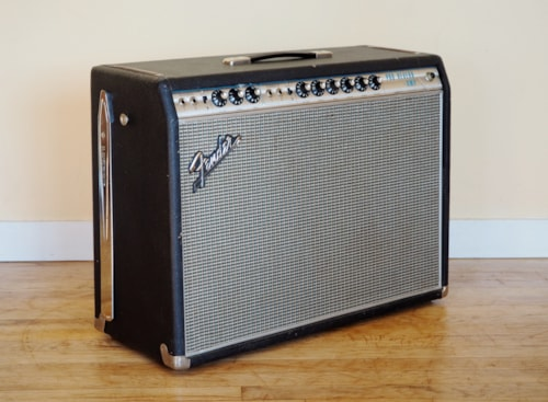 1969 Fender® Pro Reverb Vintage Tube Amplifier Drip Edge Blackface AA165