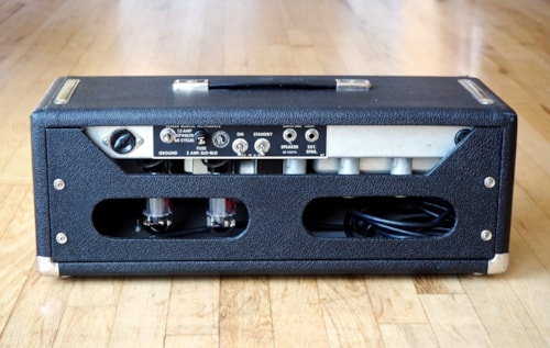 1969 Fender® Bassman® Drip Edge Silverface Tube Amp Head Near Mint AB165