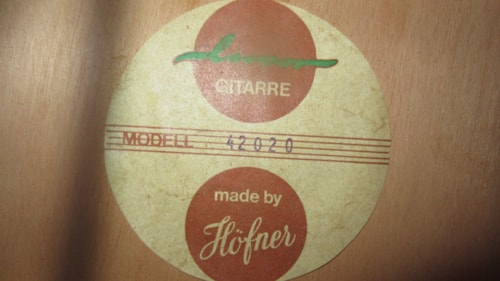 ~1964 HOFNER Classical Nylon String Acoustic
