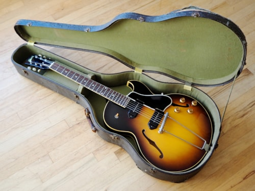 1959 Gibson ES-225TD Vintage Hollowbody Electric Guitar P-90 ES225 w/hsc