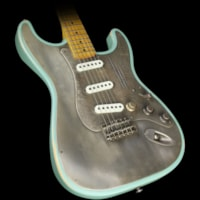 James Trussart Used 2015  Steel O Matic Electric Guitar Relic® Sea