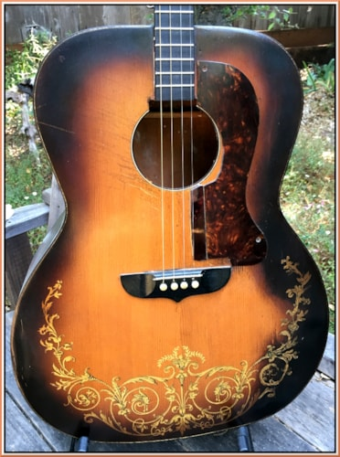 ~1935 KayKraft Flat Top Jumbo  Gold Leaf Tenor Guitar