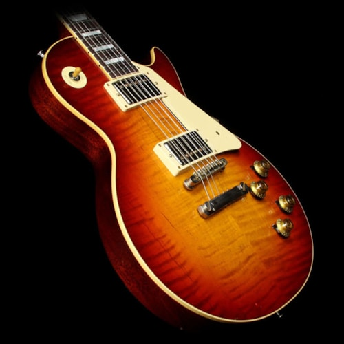 Gibson Custom Shop Used 2015 Gibson Custom Shop Murphy Aged True Historic 1960 Les Paul Reissue Electric Guitar Aged Vintage Cherry Sunburst