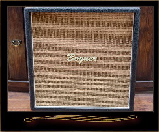 bogner goldfinger 90 head and 4x12 straight cabinet black amps