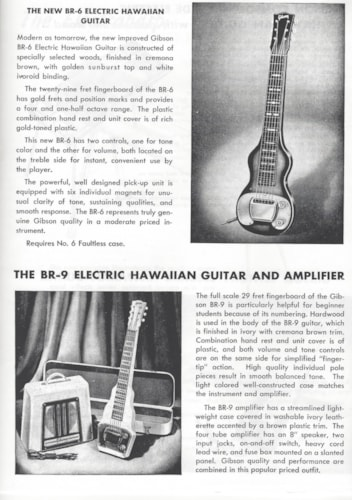 ~1951  GIBSON  BR - 9 Electric Hawaiian Guitar And Amplifier