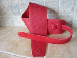 "2016 Italia Leather Straps 4"" Wide Rossa-Rossa Suede Backing"