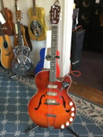 1960 Harmony Rocket (3 Pickup) Hollow Body Electric Guitar