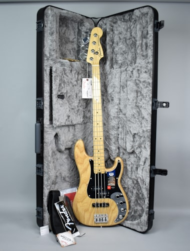 Fender American Elite Precision Bass Guitar Natural Finish USA w/OH