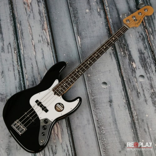 Fender® American Standard Jazz Bass® - Black, RW