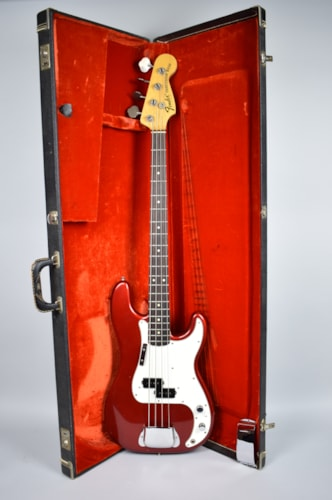 1974 Fender® Vintage Precision Bass® Guitar Custom Color Candy Apple Red w