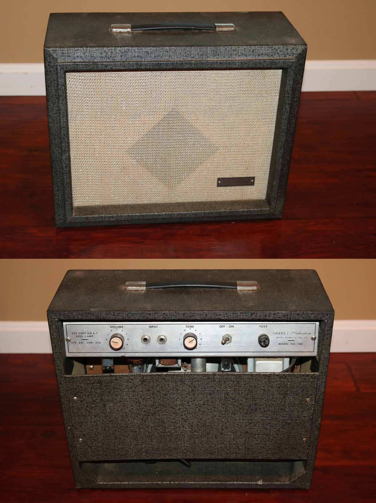 1965 silvertone 1481 amps preamps gary 39 s classic guitars. Black Bedroom Furniture Sets. Home Design Ideas
