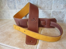 "2016 Italia Leather Straps 2.5"" Wide Acorn-Amber Suede Backing"