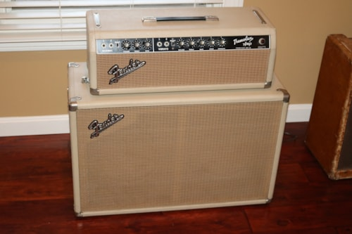 1963 Fender® Tremolux head and matching 2 x 10 cab