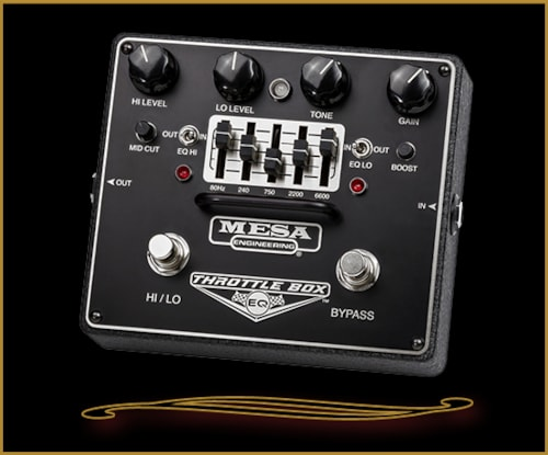 Mesa Boogie THROTTLE BOX EQ - Dual-Mode Distortion with Graphic EQ