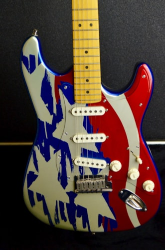 1995 Fender Anodized Stratocaster Stars And Stripes Red