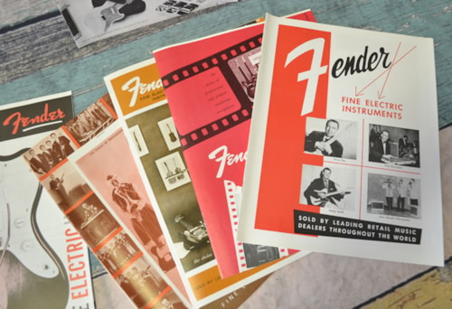 Fender® 10 Fender® Reproduction Catalogs, Various Years