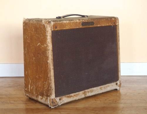 1957 Fender® Deluxe Tweed Pre-CBS Vintage Tube Amplifier 5E3 Jensen P12R