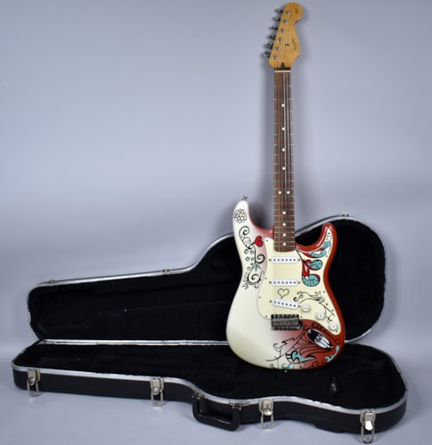 1997 Fender® Stratocaster® Red Custom Paint Hendrix Style Electric Guitar