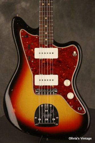 "Fender JAZZMASTER pre-CBS features CLAY DOTS + ""L"" plate"