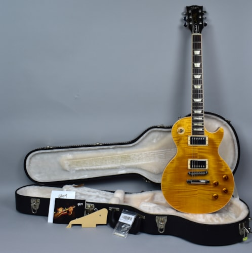 2013 Gibson Les Paul Standard AAA Grade Flame Top Trans Amber Burst w/OH
