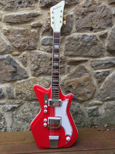 1964 airline jack white red gt guitars electric semihollow