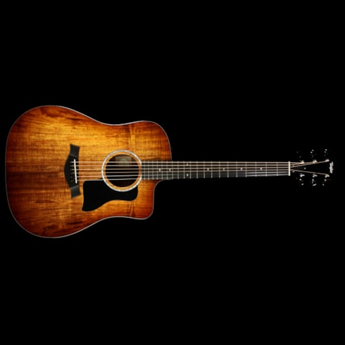Taylor 220ce-K Deluxe Koa Dreadnought Acoustic-Electric Guitar Edgeburst