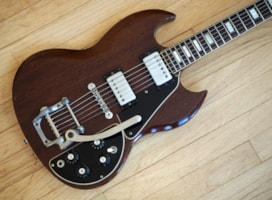 1972 Gibson SG Deluxe Vintage Electric Guitar w/ Factory Bigsb
