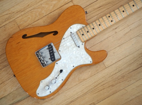 1969 Fender® Telecaster® Thinline Vintage Electric Guitar Mahogany Tele®