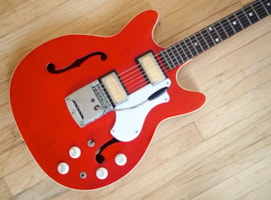 1968 Supro Clermont S667 Vintage Electric Guitar 100% Stock,