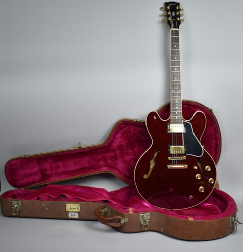 2001 Gibson ES-335 Dot Neck RI Inlay Wine Red Flame Electric Guitar USA