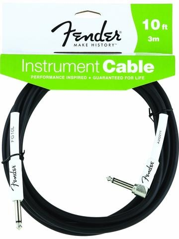 2014 Fender® 10' Right Angle Black Instrument Cable