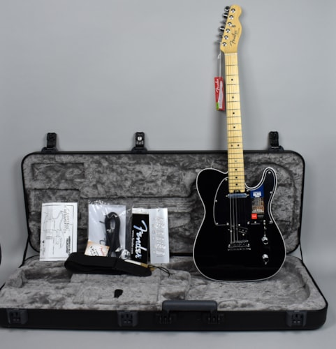 2016 Fender®  American Elite Telecaster® Mystic Black Electric Guitar w/OH