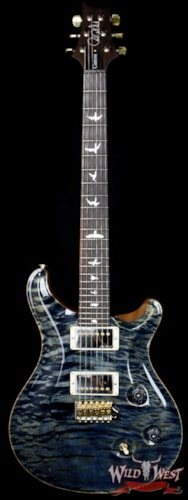 PRS - Paul Reed Smith PRS Wood Library 10 Top Fatback Custom 24 Quilt Top Faded Whale Blue W/Brazilian Fretboard