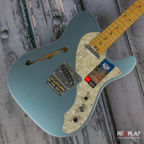 Fender® American Elite Telecaster® Thinline Mystic Ice Blue